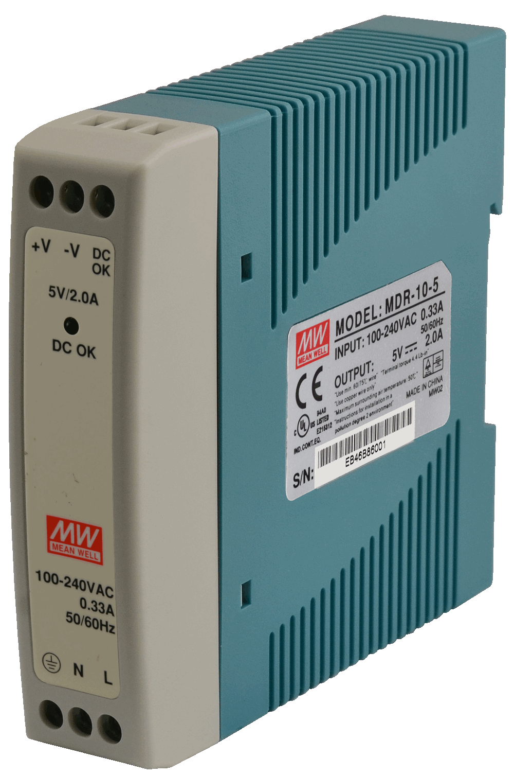 mdr 5v 10w 2a din rail power supply units mdr 10 5