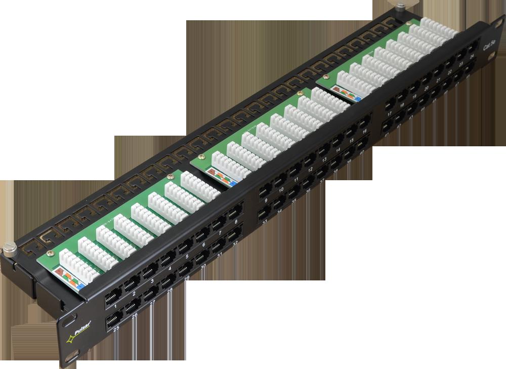 Patch Panel RP-U48V5 48 Ports / UTP / Cat5e - RP-U48V5