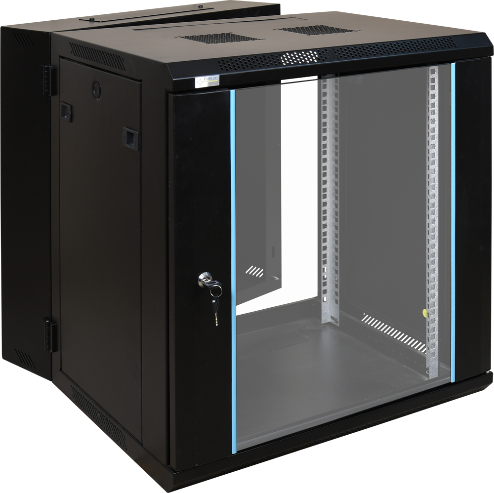 12u Rack Cabinet Double Section Wall Mounted Fully Assembled 600x600 Rwd1266